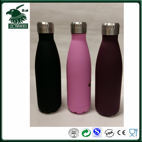 2016 fashion color cola bottle built by 18/8 stainless steel