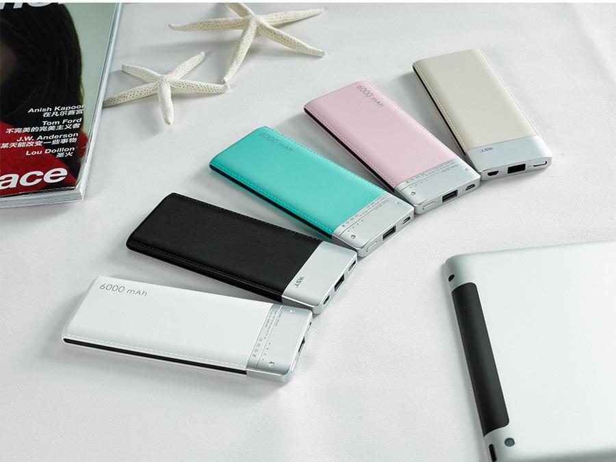 Portable charger micro USB 6000mah power bank , WST branded slim power banks