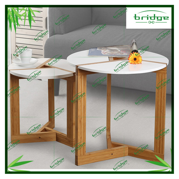 Innovative bamboo stand wooden side table end table with special foot