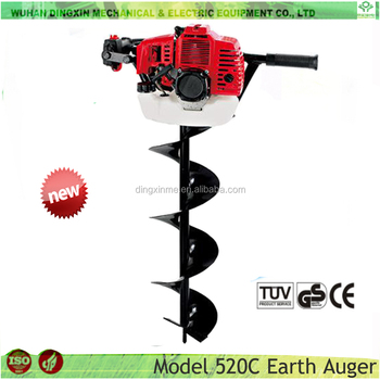 Garden tools hand held post hole digger 52cc used earth for Gardening tools jakarta
