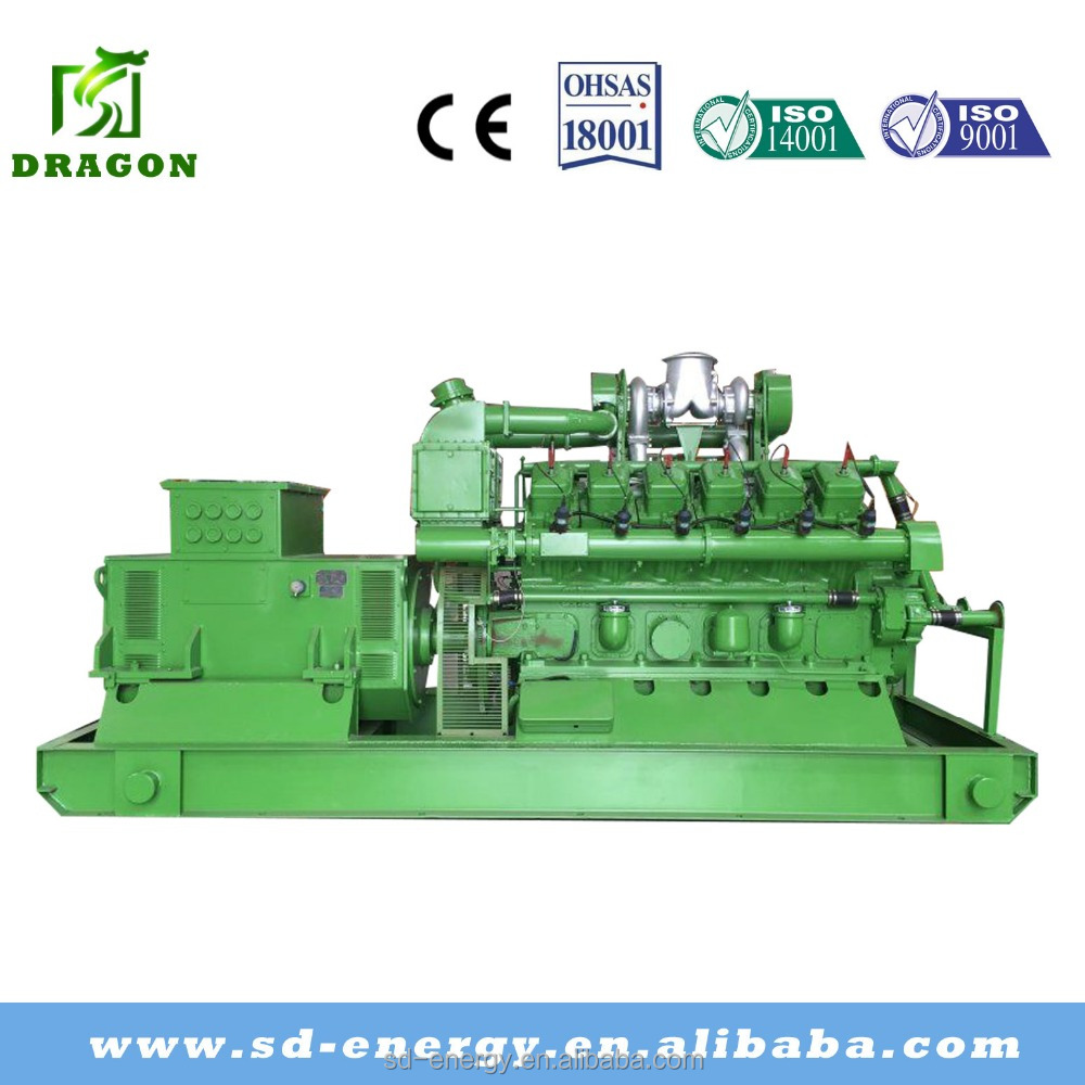Low consumption 1mw 2mw 3mw natural gas generator set with motor enginer