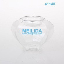 Wholesale clear glass candle shield