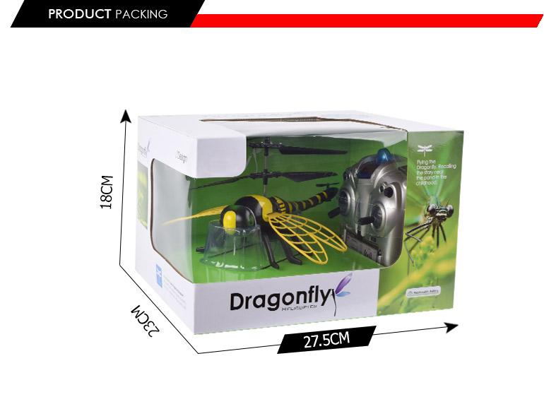הוראות חדשות צורת חרקים סימולציה 4.5ch מסוק שלט רחוק 3d זבוב קל למכירה-צעצועי FU-89