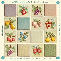 Hand Painted Colorful 10X10 3D Ceramic Wall Tile Home Depot