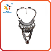2015 Fashion Necklaces For Women Fabric Acrylic Resin Flower Necklace Collar Statement Necklace