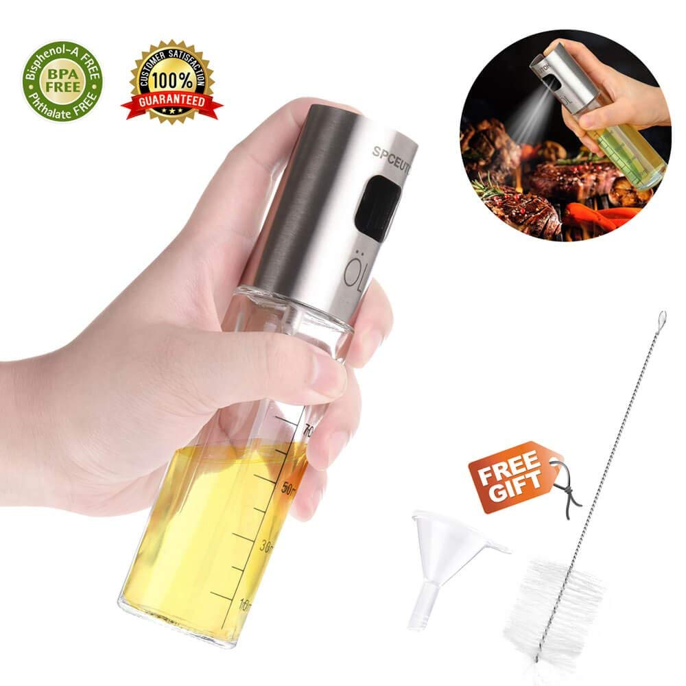 Glass Olive Oil Sprayer Oil Spray Empty Bottle Vinegar Bottle Oil Dispenser For Cooking Salad Bbq Kitchen Baking Orders Are Welcome. Home & Garden Garden Supplies