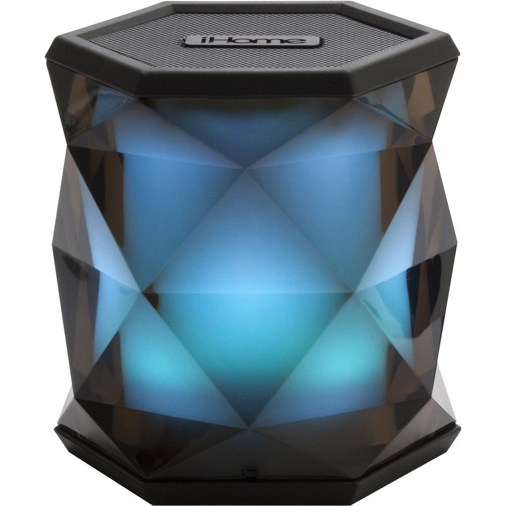 iHome Portable Color Changing Bluetooth Rechargeable Wireless Speaker System with Speakerphone, Multicolor, iBT68 (Non-Retail Packaging)