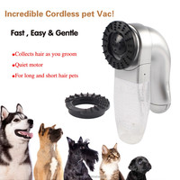 Pet Shed Pal Grooming Dog Cat Hair collection Removal Vacuum Fur Suction Device Incredible Cordless