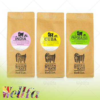 Eco Friendly Coffee Packaging Bags Craft Paper Bean