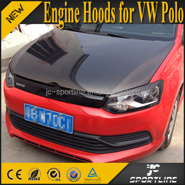 Carbon Fiber Auto Car Engine Hoods for VW Polo 2011-2015