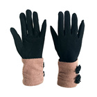 The Latest Fashion long cuff warm cashmere woolen gloves for ladies daily life