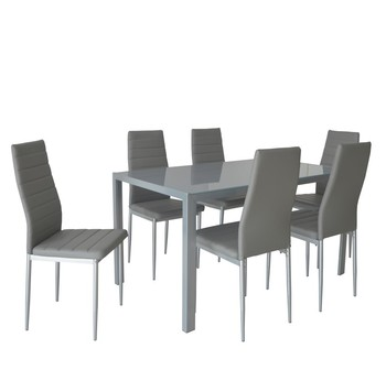 Cheap Dining Room Furniture Pretty Grey Glass 6 Seater Dining Table