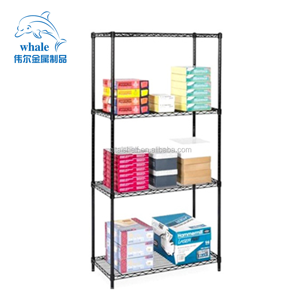 Light Duty 4 Tier Nsf Listed Black Epoxy Coated Wire Shelving - Buy on