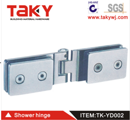 SS glass shower door rollers bathroom door hinge