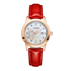 Cissden luxury Japan quartz movement waterproof day date rose gold quartz watch for women nurses