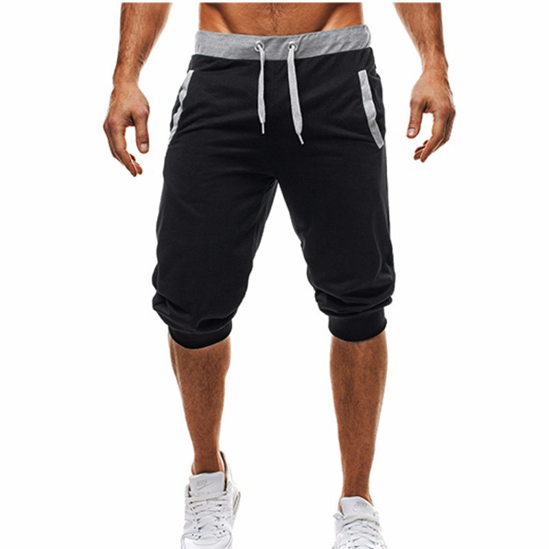Summer Men Casual Sweatpants Shorts 3/4 Trousers Short Fitness Clothing Bodybuilding Men Shorts Summer Men Clothing