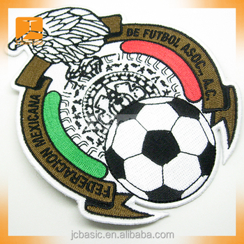 iron on embroidered soccer patches
