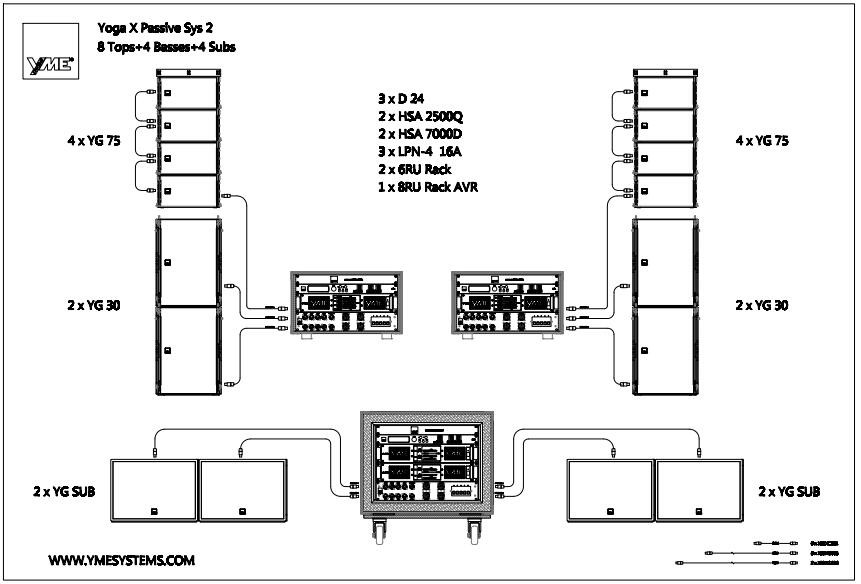 yoga x passive sys 2 desain box speaker line array