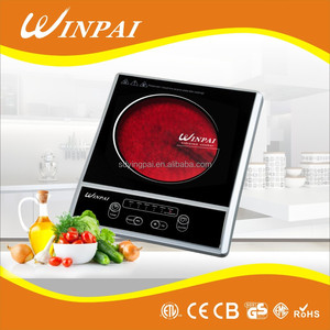 Made In China 2000W Button Control Black Crystal Panel infrared Cooker