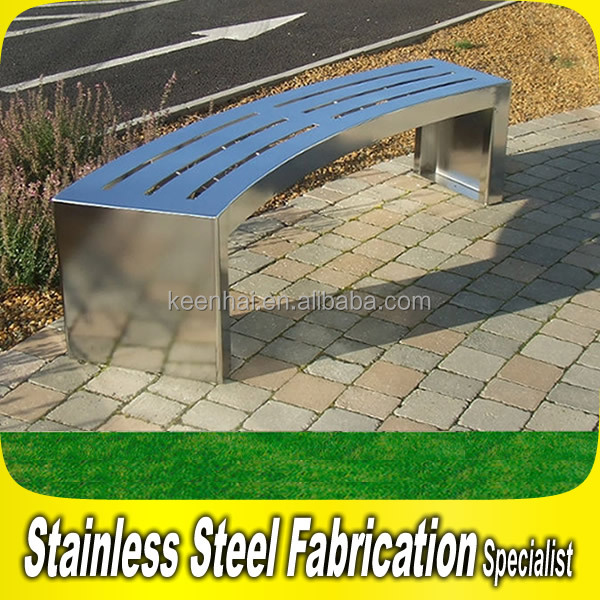 Customized Outdoor Stainless Steel Bench for Park Garden Bench