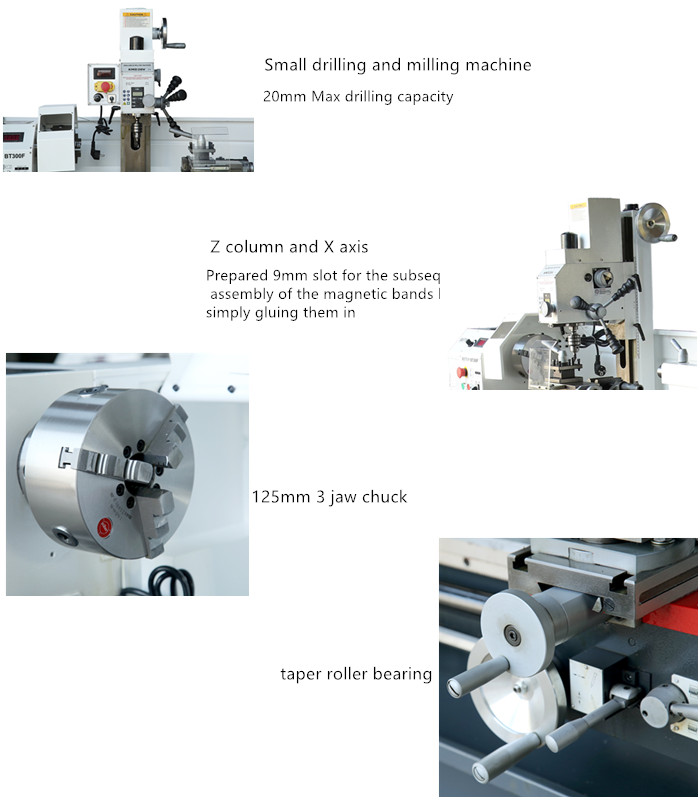 China Engine Lathe with CE Combination Lathe Drilling Milling Machine