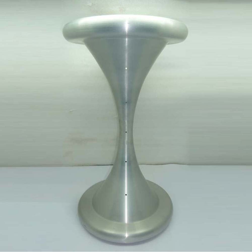Aluminium Leg Tulip Shape Brass Dining Table Base Brushed Chrome ...