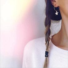 Женские серьги-подвески золотого цвета, простые геометрические круглые металлические серьги-гвоздики для влюбленных, подарочные аксессуа...(Китай)