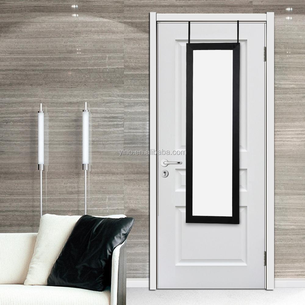 Sur la porte mur de montage armoire bijoux avec miroir for Miroir en longueur