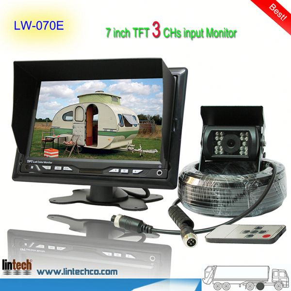 China supplier - 7 inch waterproof night vision volkswagen touareg rearview camera (LW-070E)
