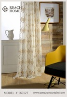 Big flower embroidery thermal Interiors Online curtain