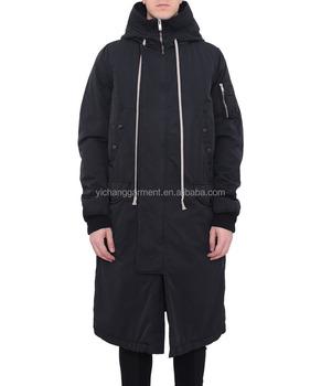 Lange Zwarte Winterjas Heren.Heren Hooded Bomber Lange Zwarte Katoenen Jas Buy Heren Katoenen