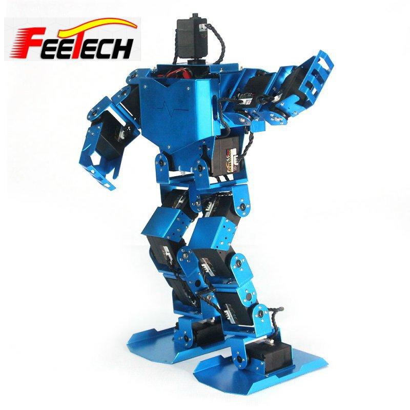 Diy kit robô brinquedo graus de liberdade bípede humanóide