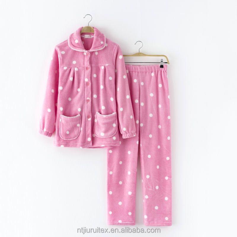 100% Polyester Coral Women Pajamas pyjamas dc4ca4347