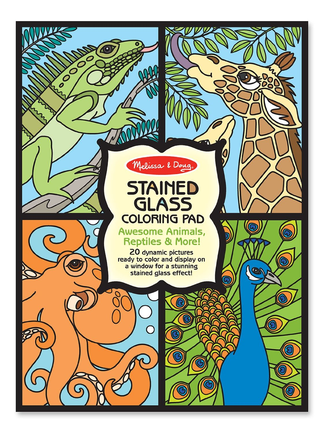 Melissa & Doug Stained Glass Coloring Pad - Animals