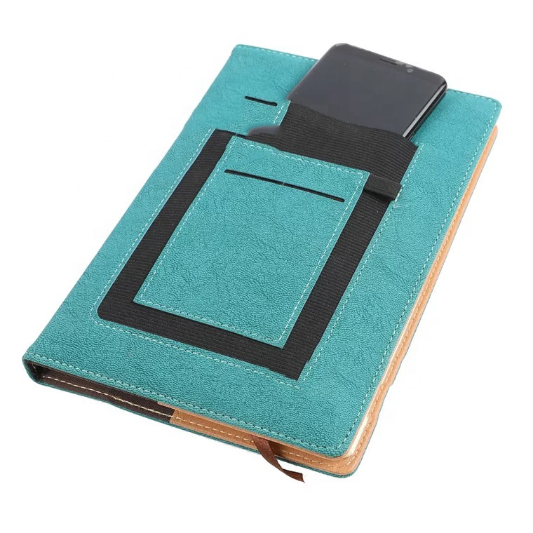 Customised Card pocket Notebook With Pen Holder