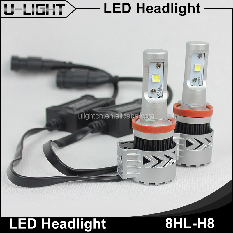 Ulightcn super bright CR XHP50 chips 40W 6000LM led head lamp h4 h7 h8 h11 9007 9004 h13 H9 led headlight for car