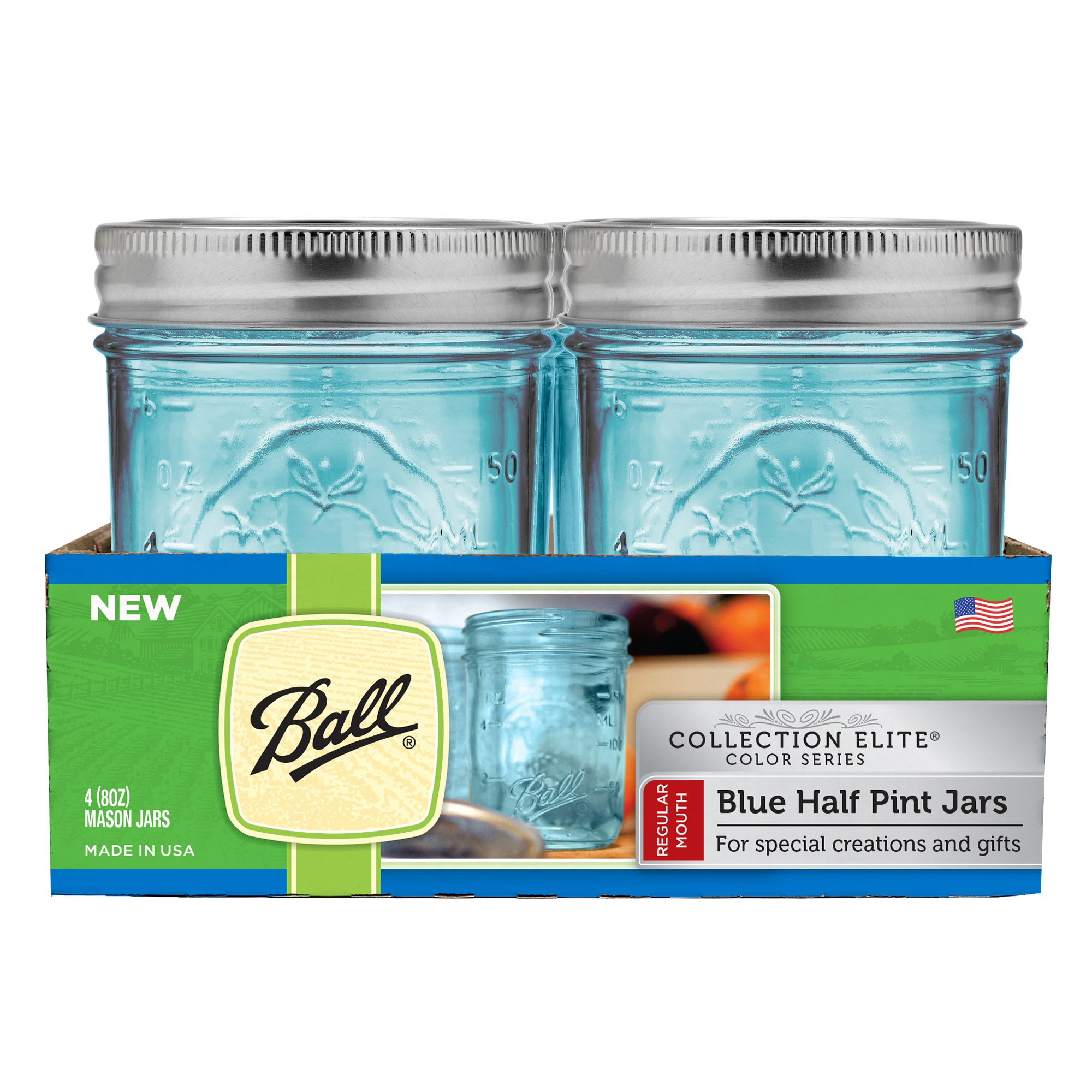 Buy Ball Canning Regular Mouth Half Pint Canning Jar 8 oz. 12-Count ...
