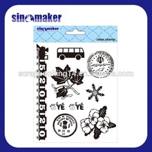 popular designs scrapbooking materials to make rubber stamp