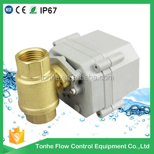 "110V to 220V 2-way 1/2"" inch brass motorized valve DN15 electric control ball valve (T15-B2-C)"