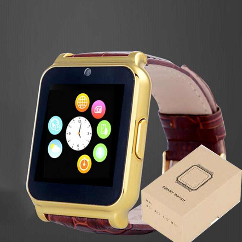 Hotting W90 ANNKE Bluetooth Smart Watch Leather Strap
