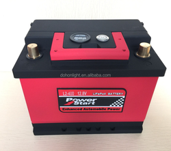 Superior quality CE ROHS FCC wholesale 2 years warranty LiFePO4 12V 24V lithium ion car battery
