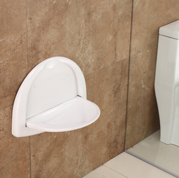 Saving Room Wall Mounted Fold Up Shower Toilet Seat Shoe-changing ...