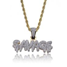 Amazon Vend Blingbling Rap Hiphop SAUVAGE Micro Zircon Collier Solide