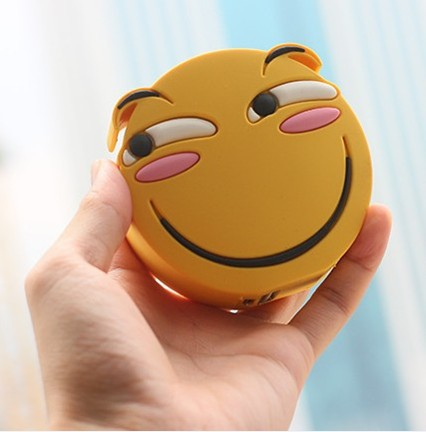 PVC customized emoji power bank 2600mah, custom emoji phone charge