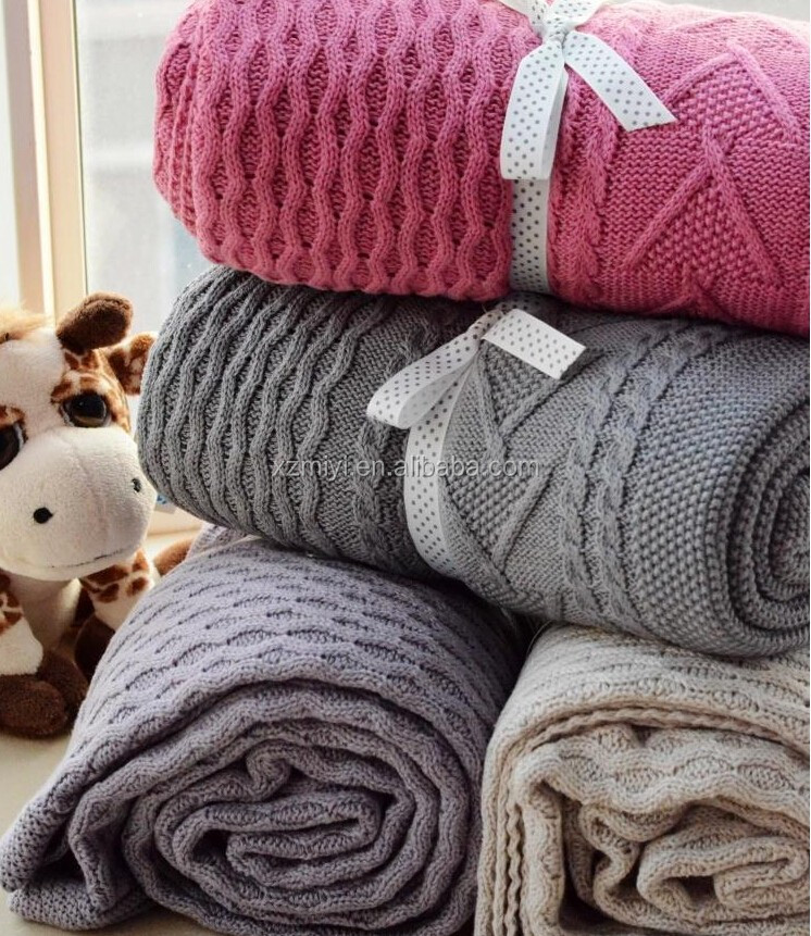 Wholesale Big Chunky Cable Knit Blanket ,king size cable knit ...