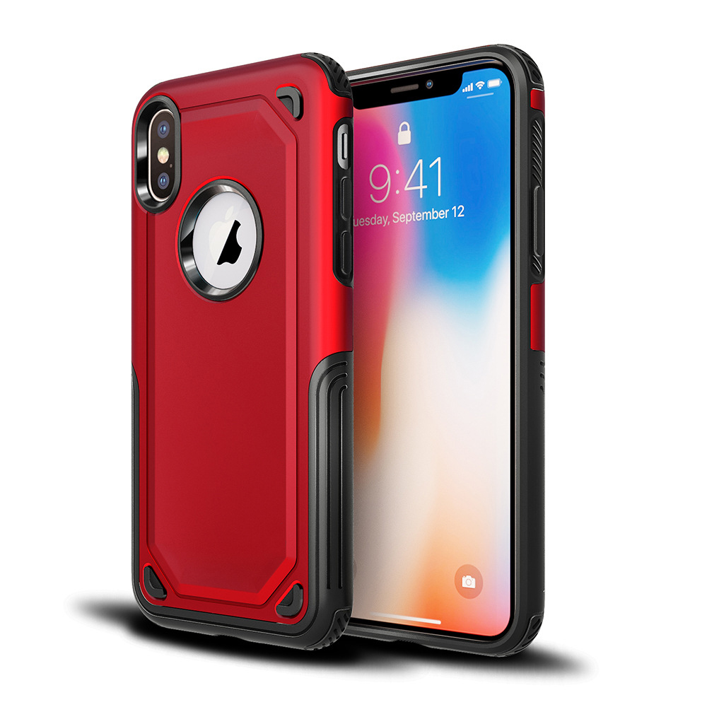 PC+TPU Heavy Duty Shockproof Defender Armor Cover For iphone X 10 Combo Protective Case фото
