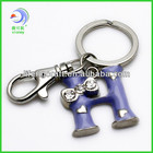 Custom design ABCD metal alphabet letter keychain for promotion favors (LF-007)