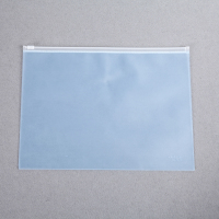 Wholesale Thickened Waterproof School Office Grid Pvc Plastic File Zipper Ziplock Bag