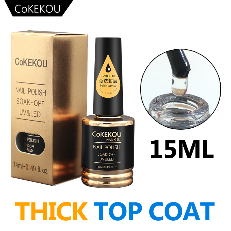 CoKEKOU Top&Base Coat&Reinforce Gel Thick&Tempering&Burst 15ML Nail Art For Wholesale & OEM & ODM We Keep Moving Forward