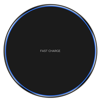 10W Qi Wireless Charger Pad LED Light Fast Charging Wireless Charger for iphone Xs Max X 8 Plus
